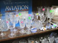 BUNCH OF LEAD CUT CRYSTAL WINE & LIQUOR  GLASSES $2 EACH !
