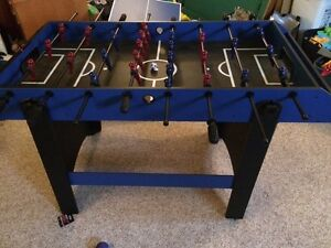 Foosball table with mini ping-pong