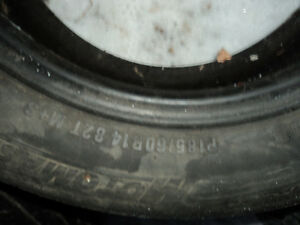 4 Assorted All Season Tires 70% Tread Left - Size P185/60R14 Edmonton Edmonton Area image 1