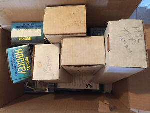 Box of Baseball or Hockey Cards