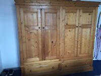LOVELY SOLID PINE WARDROBE FOR SALE