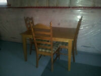 Oak Table and chairs for sale $65