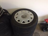 5x100 wheels and tyres £60