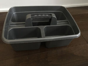 New grey all-purpose caddy. 3 storage compartments.