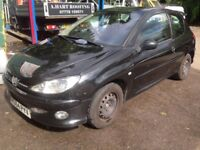 Breaking for parts Peugeot 206 xsi 2.0 tdi manual black coupe 2005