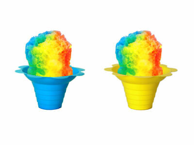 Shaved Ice Or Sno Cone Flower Cups 4 Ounce Small Case Of 500 Yellow And