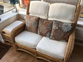 Conservatory Furniture with footstool and cushions included
