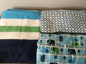 Brand New Crib Skirt and 2 Crib Sheets