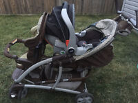 Graco Quattro Tour Duo Double Stroller and  car seats