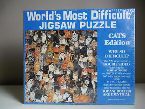 CATS Edition World`s Most Difficult Jigsaw Puzzle - 529 Pcs NEW