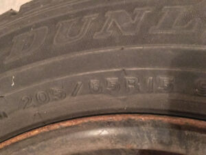 4 snow tires on rims 205/65R15