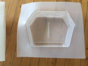 8 Moules pour fabriquer blocs de béton de murets ou pavé uni