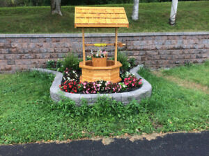 Wishing well, handcrafted
