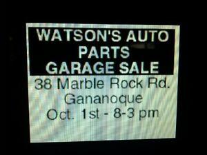 Garage Sale Watsons Auto Parts