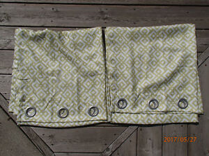 Grommet panel pair of drapes