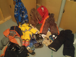 2T to 4T boys winter clothes and gear.