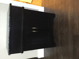 Unique table/storage solid wood $75 obo