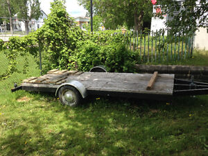 Trailer plate forme 6x13.5