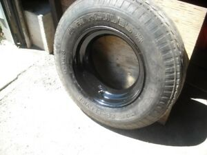 Trailer tire and wheels (size: 8-14.5)