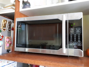 Brand New Stainless Apt-Size Microwave