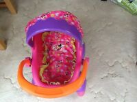 Toy doll's Pram/pushchair 'Minnie Mouse' pink