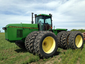 John Deere 4wd and Bourgault air drill