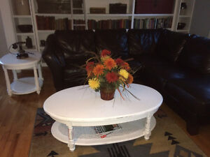Matching White Shabby Chic Coffee Table & Side Table for $295