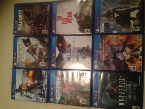 Various PS4 Games for Sale $10 each