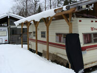 Trailer with Addition at Ryan's East Arrow Lake Resort