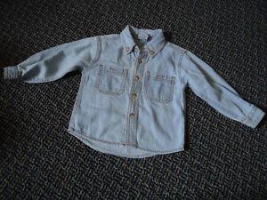 Boys Size 2 Lightweight Long Sleeve Jean Dress Shirt