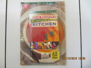 Rose Reisman's Enlightened Kitchen VHSVideo and bookNEWCirca1996