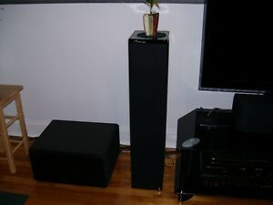 mirage tower speakers and mirage sub woofer