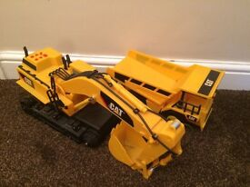 CAT set of diggers and truck