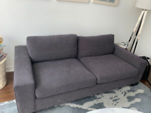 Art Shoppe Charcoal Gray Couch