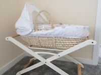 Mother care Moses basket ' bed set & folding stand