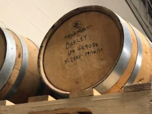 WANTED SMALLER OAK BARRELS. 25 TO 35 GALLONS.