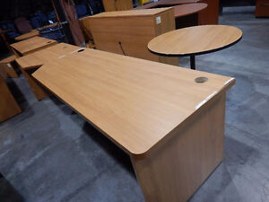 Various desks and file cabinets
