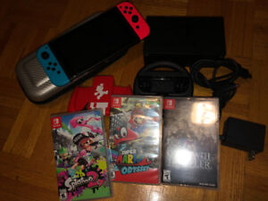 Nintendo Switch bundle (Mario Odessey, octopath Traveller, ect)