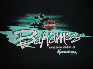 "HARLEY-DAVIDSON SLEEVELESS T-SHIRT, ""BAHAMAS"", MEN'S: L"