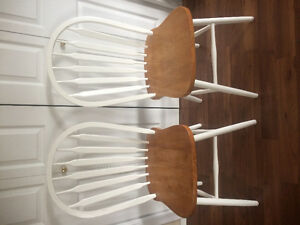 2 solid wood chairs