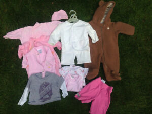 Mixed lot of baby girl clothes 0-3 mths