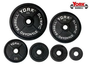York 255lb Cast Iron Olympic Weight Set