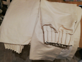 Cream suede curtains with matching door curtains