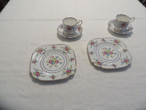 Petit Point Cup & Saucer by Royal Albert
