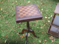 Small occasional table with checkerboard on top