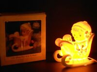 """PRECIOUS MOMENTS """"Oh What Fun It Is To Ride"""" NIGHT LIGHT ~ ($20)"""