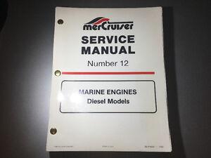 1989-1993 Mercruiser Stern Drive Inboard Diesel Manual 5 & 6 cyl