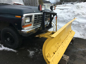 Truck with plow