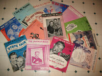 25+ pieces of sheet music from the 1940's