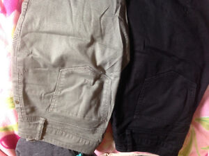 Size 4 black and size 4 olive green skinny leg Alfred Sung. 2